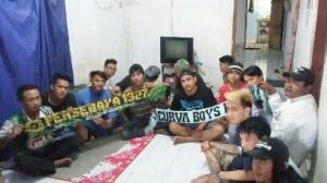 Renzha di Cirebon bersama Curva Boys