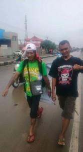 Renzha bersama Pasoepati
